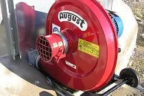 Snímek ukradeného ventilátoru.