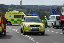Na silnici I/37 u odbočky na Lukavici a Svídnici byl sražen nezletilý chodec.