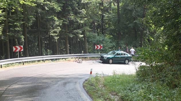 Mezi obcemi Seč a Zbohov byla dopravní nehodě vážně zraněna cyklistka.