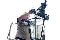 Pohaslou lucernu bylo nutné opravit