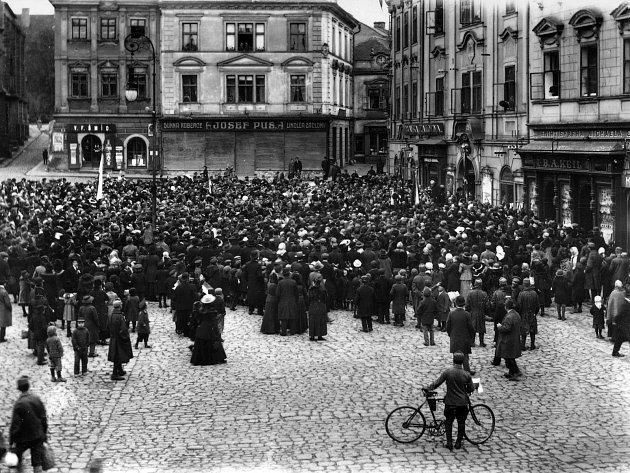 Shromáždění konané 29. října 1918 v Chrudimi.