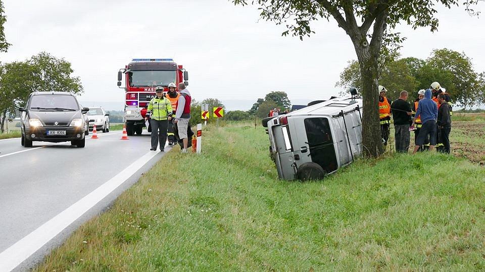 Nehoda na silnici mezi Kočí a Chrudimí