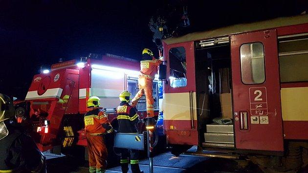 Střet vlaku z nákladním vozem v Třemošnici, srpen 2019