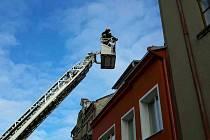 Zásah hasičů ve Skutči