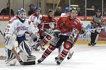 Z hokejového utkání I. ligy HC Chrudim - Ostrava Poruba 5:0.