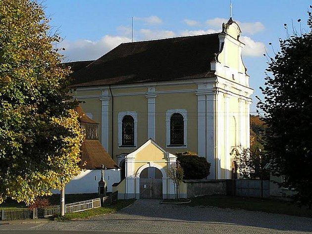 Kostel sv. Víta v Bojanově.