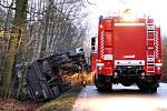 Při nehodě autobusu došlo ke zranění osmi lidí.