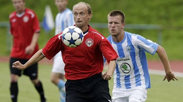 Fotbalové utkání Ondrášovky Cupu mezi MFK Chrudim a FK Mladá Boleslav.
