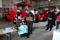 Slavnostní předání hasičského vozu DAF 1300