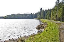 Rybáři navážejí k rybníku Krejcar chlévskou mrvu.