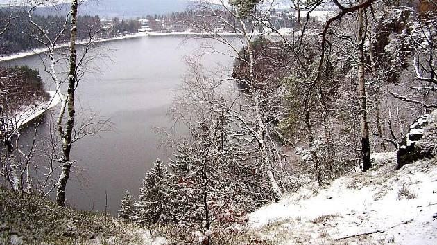 Zima na Sečsku a v okolí přehrady.