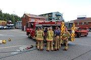 Čeští hasiči v anglickém Newcastlu