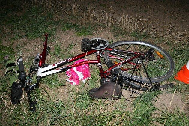 Z místa tragické nehody u Chomutic - Obory.