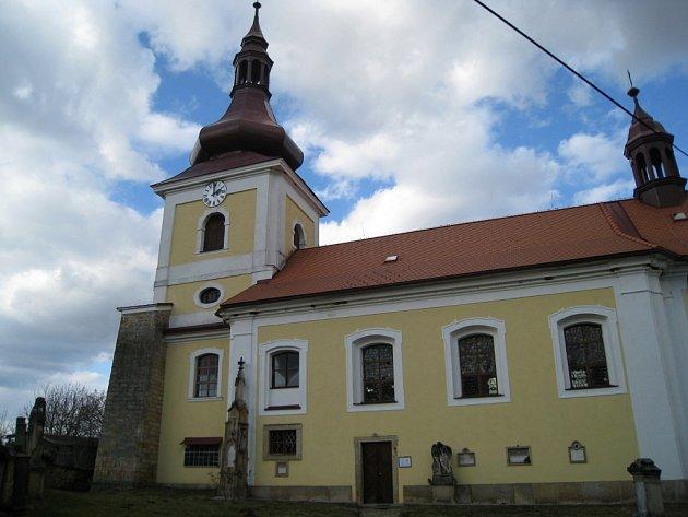 Mlázovický kostel.