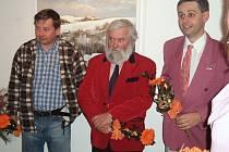 Zleva Vlastimil Mužíček, Miloš Gerstner a Radim Karel.