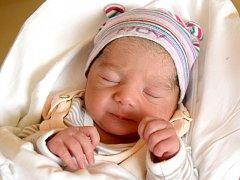 KLAUDIE ŠAMKOVÁ přišla na svět 23. května s porodní mírou 45 cm a váhou 2,36. S maminkou Růženou Šamkovou bydlí v Chomuticích, kde se na sestřičku těší téměř dvouletá Nela.
