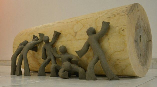 Výběr zdíla novopackého sochaře Alberta Kralička.