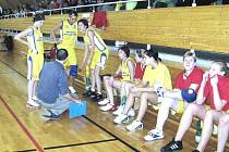 Oddechový čas novopackých basketbalistek.