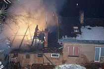 Stará Paka - požár hospodářské části rodinného domu .