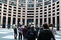 Návštěva štrasburgského europarlamentu.