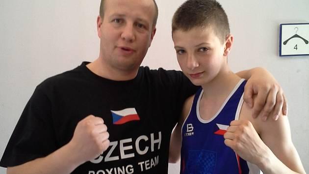Pavel Duda (vlevo), reprezentační trenér, a František Bradáč.