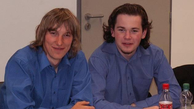 Studentský tým jičínské MOA Martin Hrych a Petr Kučera.