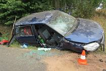 Nehoda fabie u Střevače.