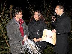 Charitativní prodej stromků v bělohradských lázních.