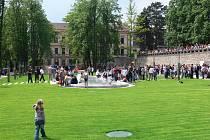 Slavnostní zpřístupnění parku vévodovi i veřejnosti.