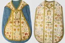 Barokní ornát z 18. století ze sbírek muzea.