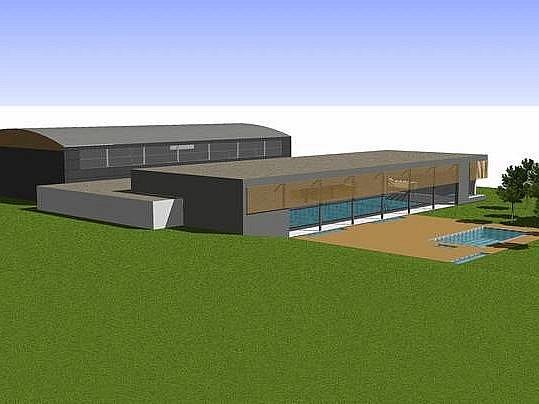 Projekt plaveckého bazénu v Nové Pace.
