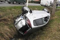 Z místa nehody u Milovic.