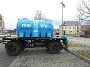 Zásobování pitnou vodou v Mlázovicích.