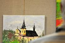 Setkání malířů a malířek ze zdejších i vzálených krajů na již dvanáctém plenéru Novopacké veduty vyvrcholilo výstavou v malém sále MKS.