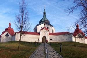 Zelená Hora - poutní kostel sv. Jana Nepomuckého.