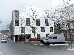 STAROU BUDOVU nahradí moderní radnice, zřejmě podle návrhu architekta Ondřeje Plašila