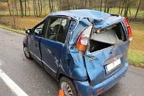 Nehoda u Dolního Javoří.