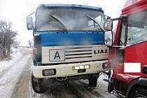 Nehoda kamionu v Rakově.