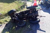 Nedělní nehoda traktoru si vyžádala jedno zraněn.