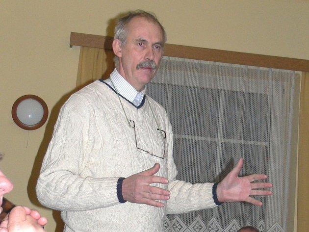 """Lubomír Hoška, iniciátor bělohradské ankety o """"nej"""" občana města."""
