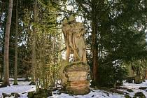 Socha Husité na stráži v Hořicích.