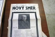 Dokumenty o pohřbu Masaryka z jičínského archivu.