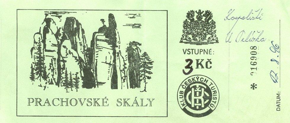 Vstupenka na koupaliště U Pelíška, 1996.