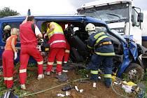 Z místa tragické nehody.