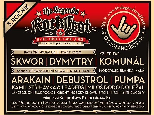 Pozvánka na RockFest 2014.
