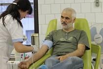 Odběry krve v Jičíně od bezpříspěvkových dárců.