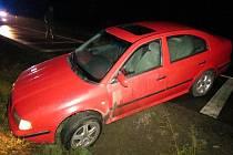 Nehoda oktávie u Lužan.