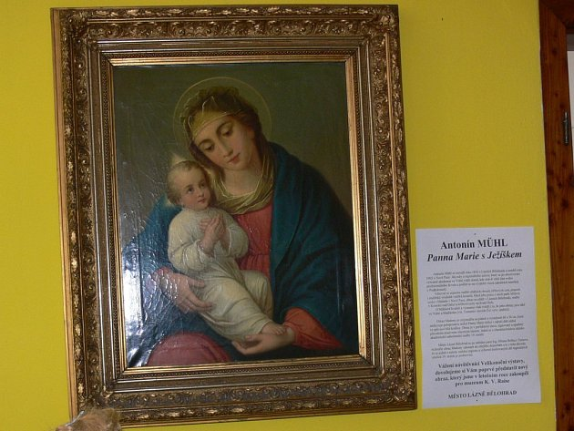 Obraz Panny Marie od Antonína Mühla.