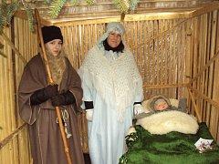 Živý betlém v Sobotce.