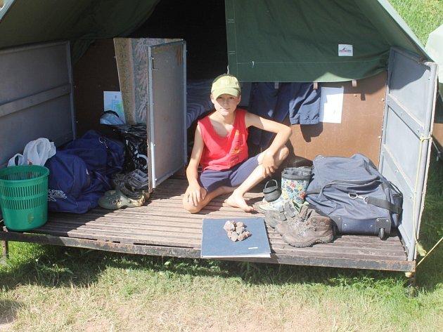 Z letního tábora kamenářů v Roškopově.